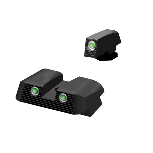 Tritium NiteSights that will fit any Glock chambered in 45 acp, 10mm and 45 GAP. Manufactured by HIVIZ!