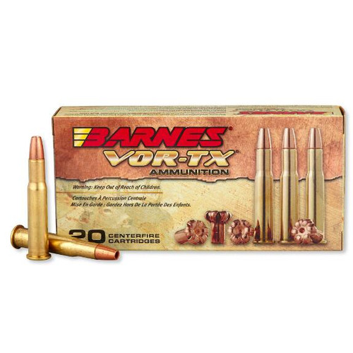 Barnes VOR-TX .30-30 win 150 Grain TSX FN, has 20 rounds per box, manufactured by Barnes.