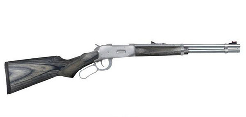 lever action 30-30 with a gray laminate stock manufactured by Mossberg