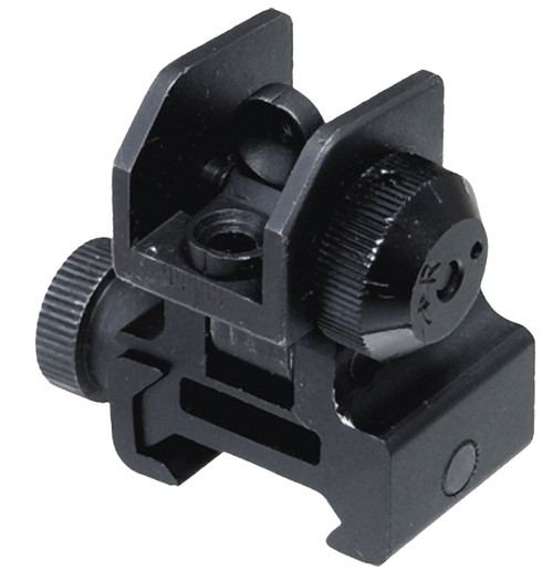 AR-15 rear sight, Manufactured by Aim Sports.