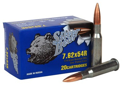 Zinc Plated 7.62x54R manufactured by Silver Bear