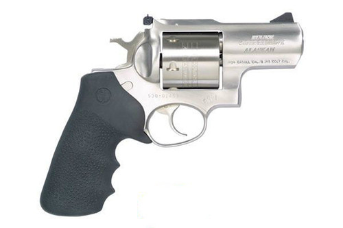 Super Redhawk Alaskan in 454 Casull that will also shoot the 45 Long Colt. 6 shot capacity. Stainless Steel unfluted cylinder. Manufactured by Ruger!