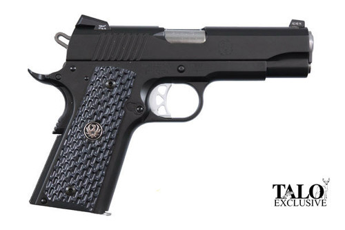 This is a Ruger������������������������������������������������������ SR1911������������������������������������������������������ .45 acp. Special TALO edition called the Night Watchman Commander