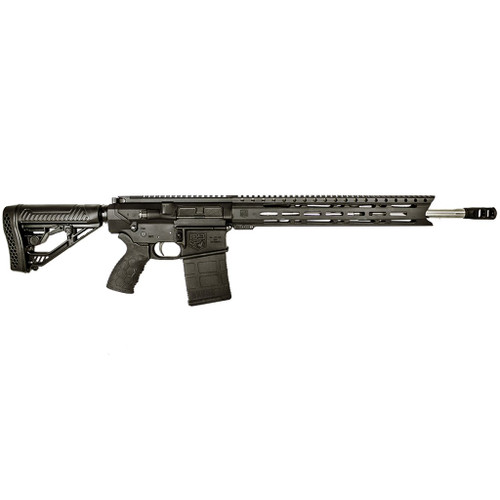 Diamondback AR-10 rifle called the DB10 chambered in .308 win. This model has an 18 inch fluted stainless steel barrel with a Diamondback 308 2 chamber muzzle brake. This model also comes stock with an Adaptive-tactical stock and a Hexmag grip