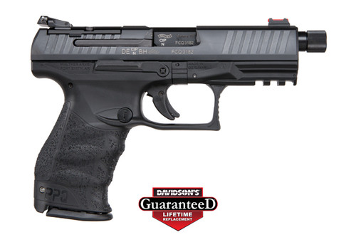 Walther PPQ Q4 TAC chambered in 9mm. Comes with a threaded barrel and includes two magazines; 3 (2) 17RD & (1) 15RD.