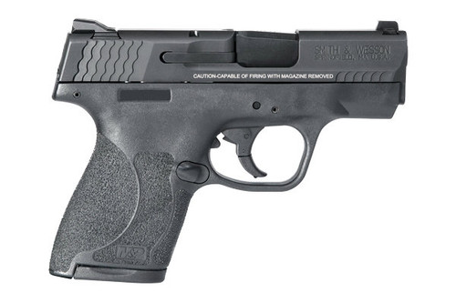 This is a Smith & Wesson M&P 2.0 Shield chambered in 9mm with no thumb safety.  Comes with (1) 7 round magazine and (1) 8 round magazine.