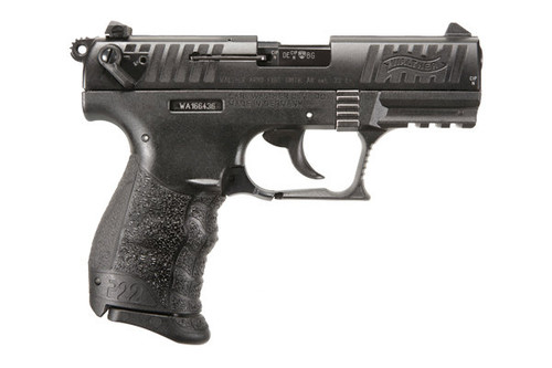 Walther P22QD .22lr pistol, with a black finish. Comes with (2) 10 Round magazines
