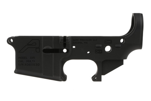 lower receiver for an AR15 Manufactured by Aero Precision. This model is the Gen 2 version of Aero Precision lowers.