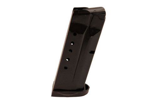 This is a Smith & Wesson magazine for the M&P Shield 9mm, 7 round capacity, made by ProMag.