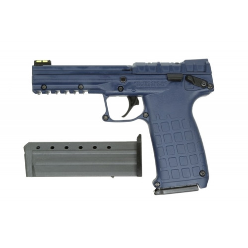 Kel-Tec PMR-30 chambered in .22 magnum, in a Navy Blue finish. This firearm comes equipped with fiber optic sights. Comes with (2) 30 round magazine
