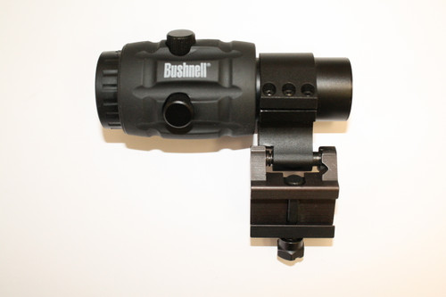 This is a Bushnell 3x flip to side magnifier- used