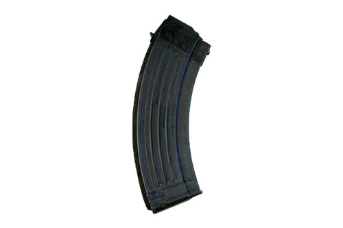 AK-47 magazine 7.62x39mm, 30 round capacity, constructed from steel with a no tilt follower, made in Korea with a phosphate finish