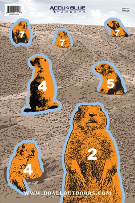 10 pack of targets featuring different sizes of Prairie Dogs for hours of shooting fun!
