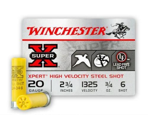 20 gauge shells. 1325 FPS 3/4 oz shot. Manufactured by Olin.