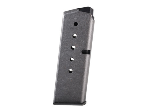 This is a 6 round factory magazine .380 acp for Kahr P380, used.