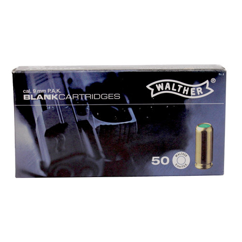 50 rounds of 9mm P.A.K. Blanks.