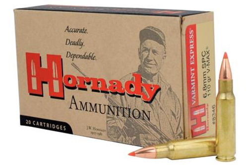 20 rounds of hunting 6.8mm SPC ammo. 110 grain.