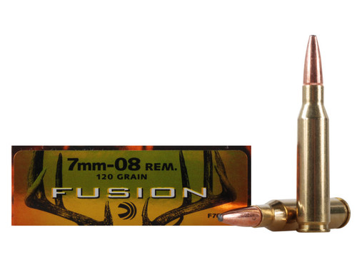 20 rounds of 120 grain 7mm-08 rounds. Ideal for hunting. Manufactured by Federal Cartridge Co.