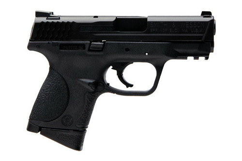 M&P compact 9mm 10 round model. Manufactured by Smith & Wesson. Comes with two (2) 10 round magazines.