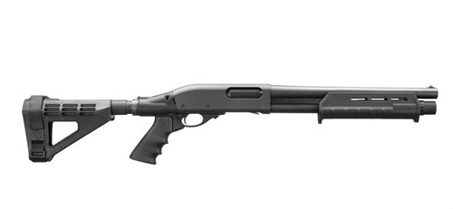 Remington 870 Tac-14 with an arm brace.