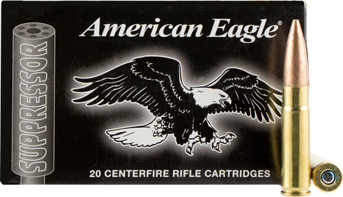 American Eagle 300 Blackout 220 Grain Open Tip Match, has 20 rounds per box, manufactured by Federal.