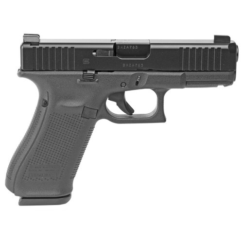 This is a Glock 45 chambered in 9x19(9mm) with Ameriglo Bold Night Sights. Manufactured by Glock Inc. The 45 Features: