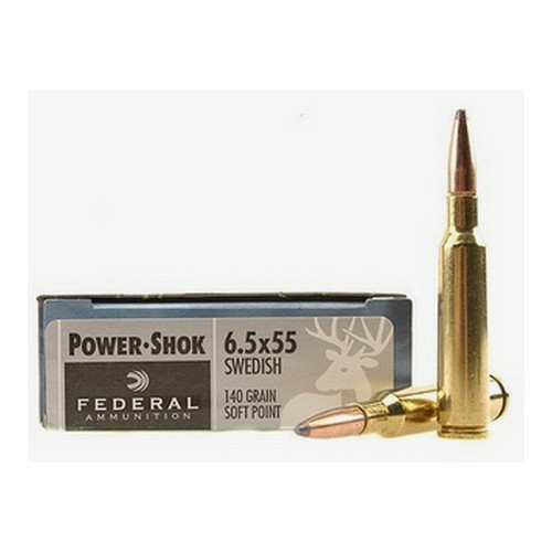 This is a box of 6.5 x 55 Swedish Federal Power-Shok ammunition. 20 Rounds per box.