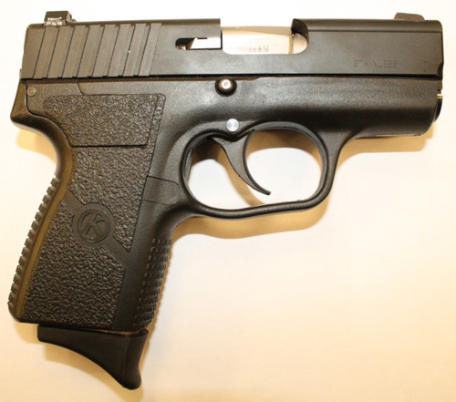 PM9 manufactured by Kahr Arms, with night sights. Comes with (2) magazines, one has a finger extension.