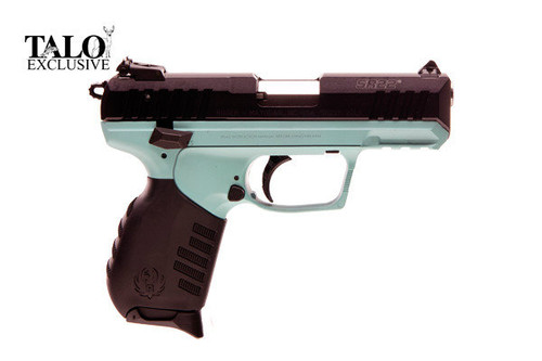 Ruger SR22 .22 lr. With a Turquoise finish. Talo Special edition