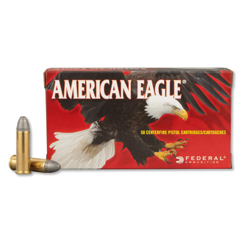 .38 Special 158 grain Lead Round Nose, has 50 rounds per box, manufactured by Federal