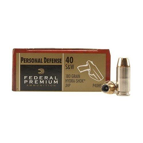 Federal Premium 40 S&W 180 Grain Hydra-Shok JHP, has 20 rounds
