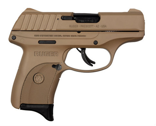 This is a Ruger EC9S 9mm, with a flat dark earth finish. Comes with (1) 7 round magazine.
