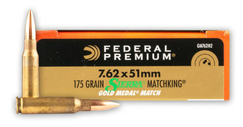 Federal Premium Gold Medal 7.62x51mm 175 Grain Sierra Match King