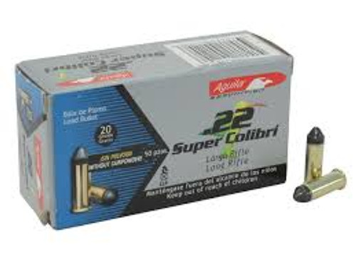 Aguila super colibri .22 lr ammo is manufactured to be quieter with higher velocity,