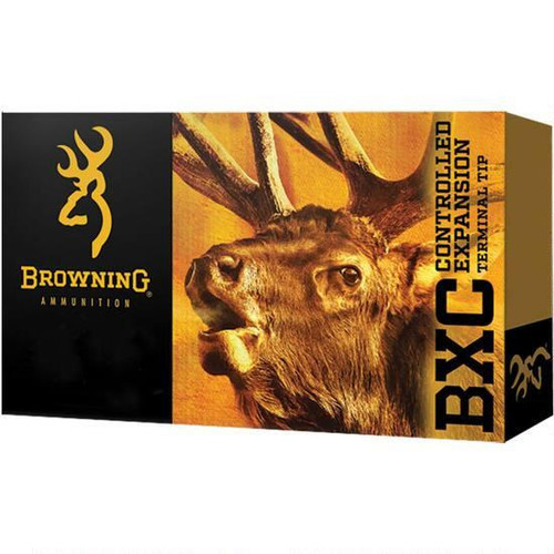 This is a new box of Browning BXC ammunition in the .270 win caliber. They are loaded with 145 grain controlled expansion Terminal Tip projectiles and come 20 rounds per box.