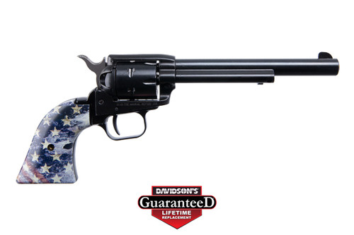 This is a Heritage Rough Rider Revolver chambered in .22 lr, with U.S.A. Flag grips.