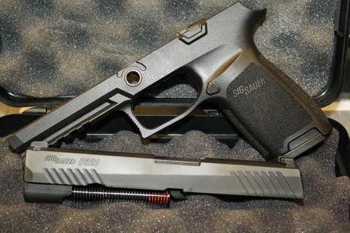 Used Sig Sauer X-change kit for a full sixe P320 9mm with night sights. Comes with original box and carrying case.
