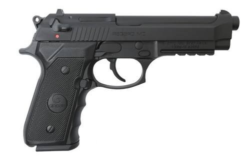 This is a EAA Girsan regard chambered in 9mm with a Matte Black finish.