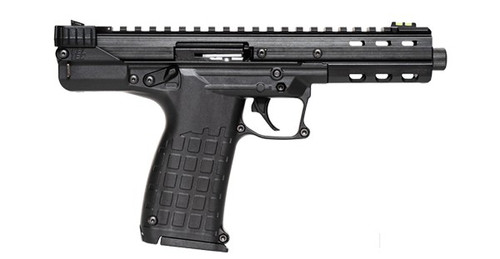 This is a Kel-Tec CP-33 chambered in .22 long rifle, in the original black finish. This firearm comes equipped with fiber optic sights. Comes with (1) 33 round magazine.