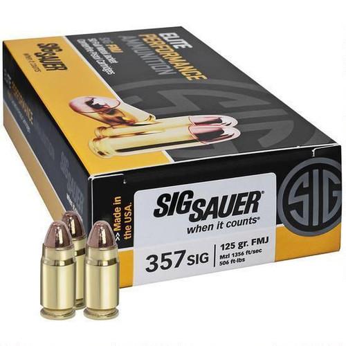 Sig Sauer .357 Sig 125 Gr. FMJ 50 Rounds / Box Ammo