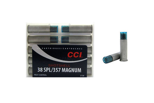 CCI .38 special shotshell (snake shot), has 10 rounds per box.