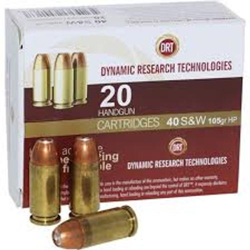 DRT Ammo - .40sw - 105gr JHP Terminal Shock - 20rd/box