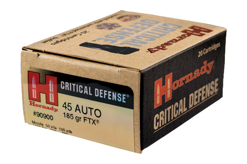 Hornady Ammunition .45 acp Critical Defense 185gr FTX 20 Rounds/Box