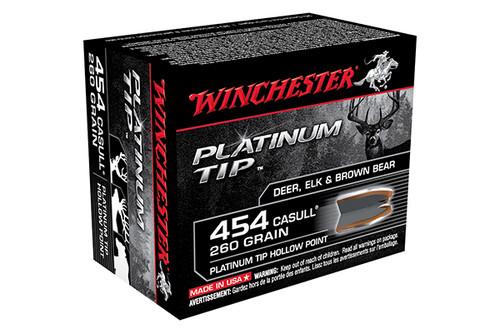 Winchester Ammunition 454 Casull 260gr Platinum Tip HP