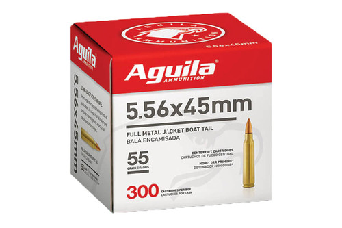 Aguila 5.56 Nato 55gr FMJ Boat Tail 300 Rounds
