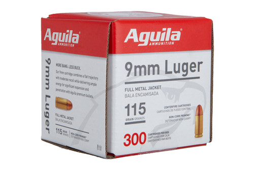 Aguila 9mm 115gr FMJ 300 Rounds