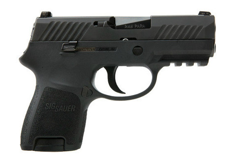 This is a Sig Sauer P320 9mm, Nitron finish, Sub Compact, with Night Sights (Siglite). Comes with (2) - 12 roundd magazines.