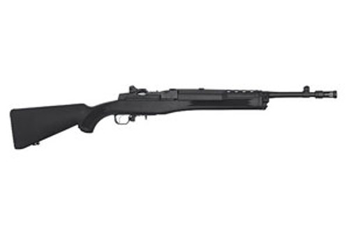 synthetic stock Mini-14 Tactical Rifle chambered in 5.56 nato. Manufactured by Ruger