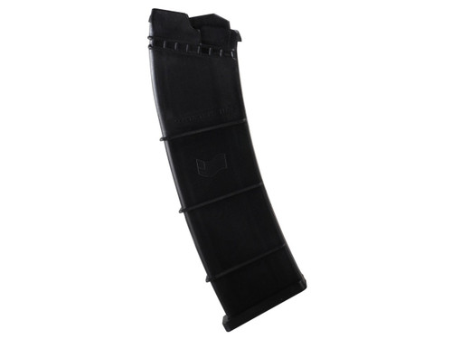 This is a 10 round magazine for the Saiga 12 Gauge Tactical Shotgun, made by SDS.