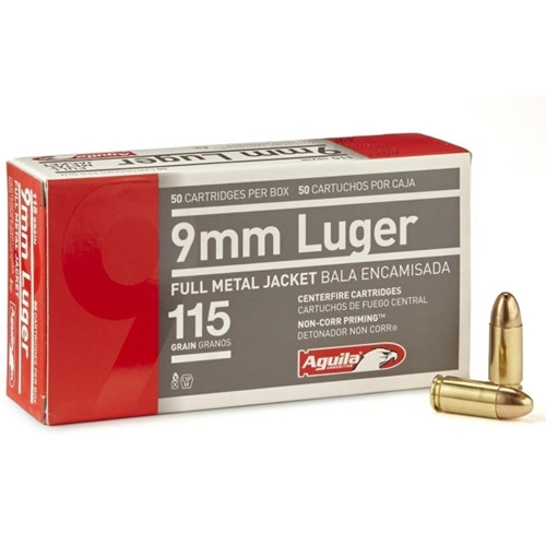 Aguila 9mm 115gr FMJ 50 Rounds
